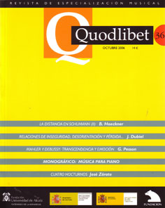 Quodlibet. Revista de Especialización Musical  36